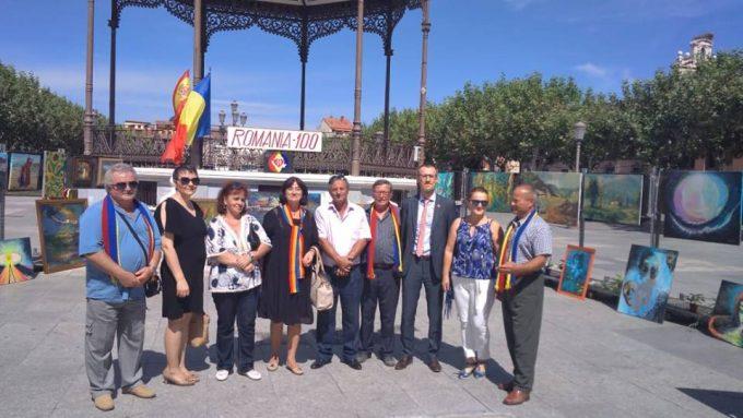 """""""Culori pentru Patrie"""" - expoziția de artă plastică dedicată Centenarului Marii Uniri, în Spania"""