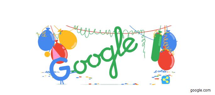 Cumpleaños de Google para la mayoría de edad de un gigante