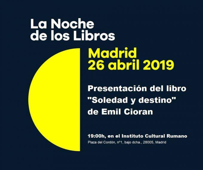 Día Internacional del Libro con una charla sobre la obra de Emil Cioran