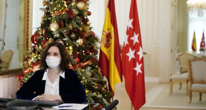 """Díaz Ayuso defiende ante Europa """"la estrategia muy definida"""" de Madrid contra el COVID"""