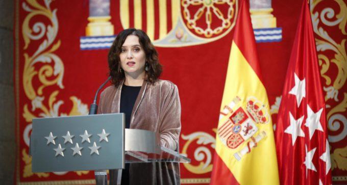 Díaz Ayuso define 2020 en 5 palabras: dolor, extenuación, solidaridad, responsabilidad y gratitud