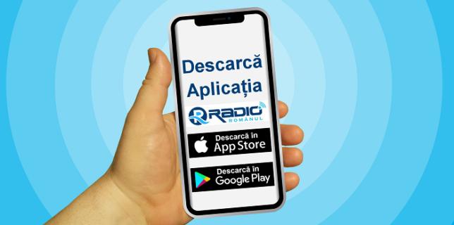 Descarcă Aplicația Radio Românul pe telefon în App Store (iPhone) sau Google Play (Android)