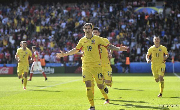 EURO 2016: România - Elveția 1-1. Bogdan Stancu, al treilea jucător ce înscrie două goluri din penalty