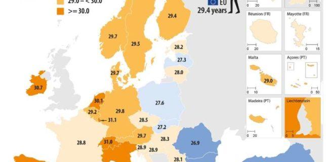 Eurostat: Vârsta medie a femeilor care au devenit pentru prima dată mame a fost în 2019 de 29,4 ani