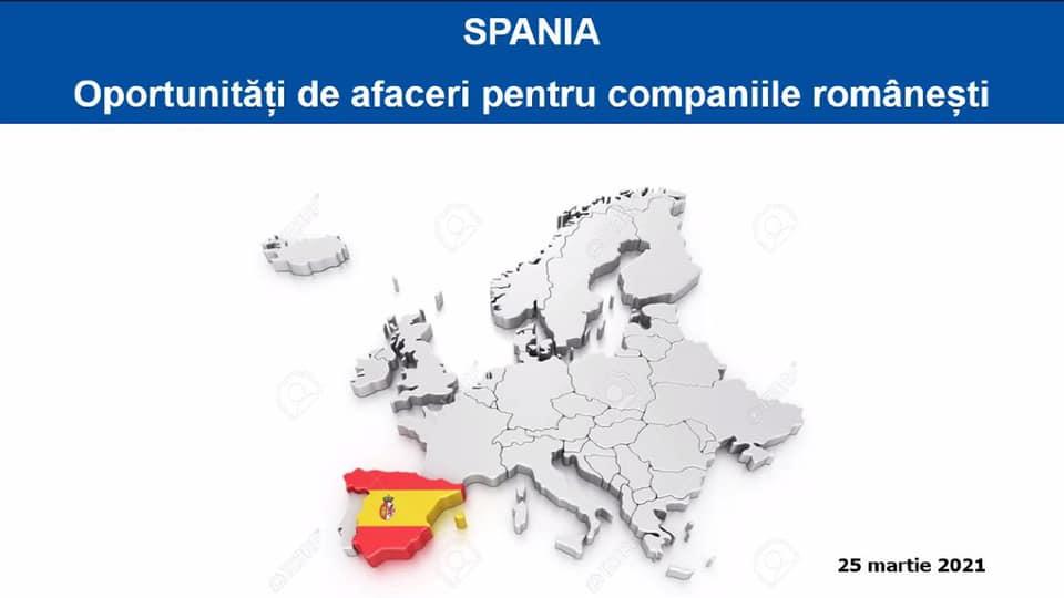 Eveniment online dedicat oportunităților de afaceri cu Spania 1