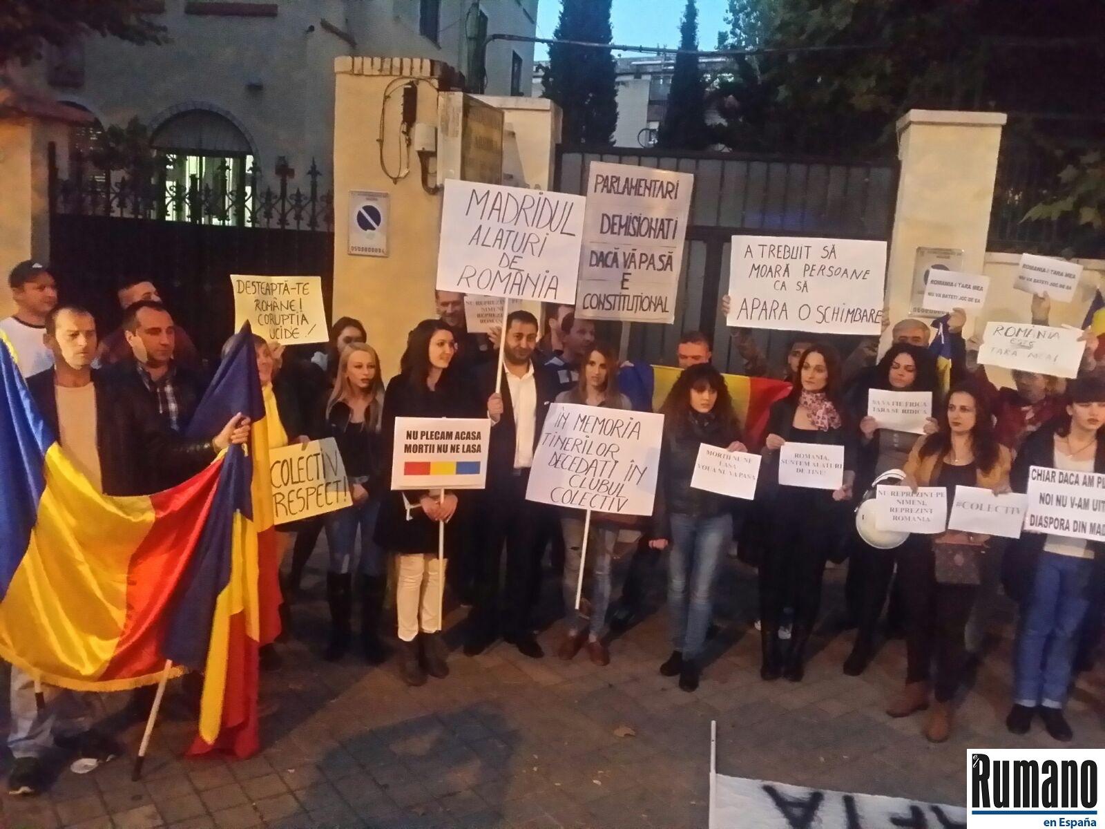 Exclusivitate: Românii din diaspora, alături de românii din țară într-un protest la Madrid