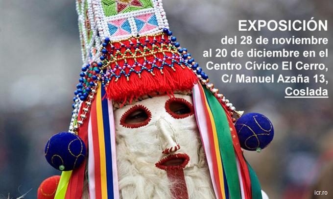 Exposición de mascaras y costumbres para celebrar el Día Nacional de Rumanía en Coslada