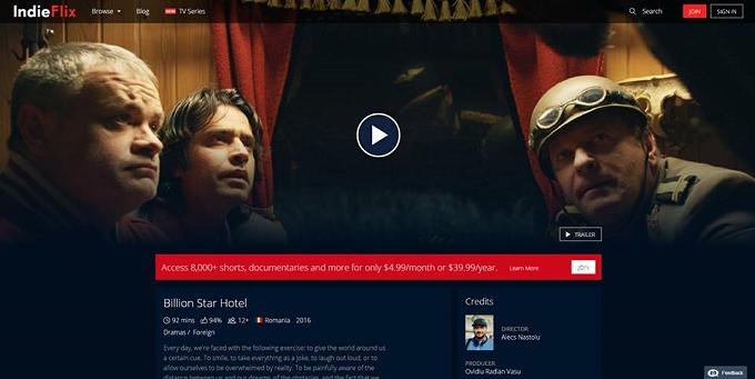 Filmul premiat de 5 ori în SUA, Billion Star Hotel a ajuns pe platforma IndieFlix