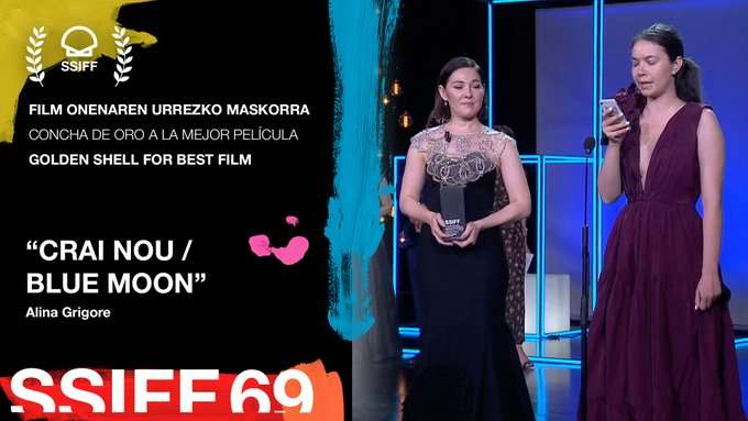 Filmul românesc Blue Moon a câştigat trofeul Concha de Oro la Festivalul Internaţional de Film de la San Sebastian
