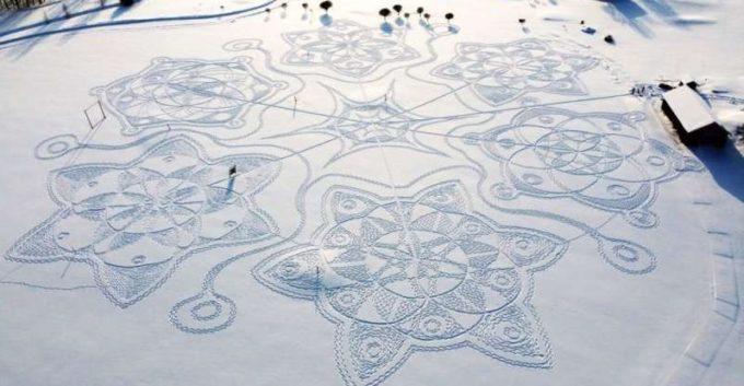Finlanda: ''Avalanşă'' de succes pentru o operă de artă uriaşă, creată în zăpadă