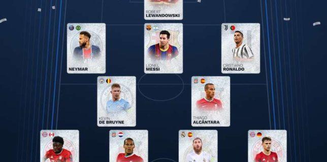 Fotbal: Messi, Ronaldo şi Neymar, în echipa ideală a suporterilor pe anul 2020 (UEFA)