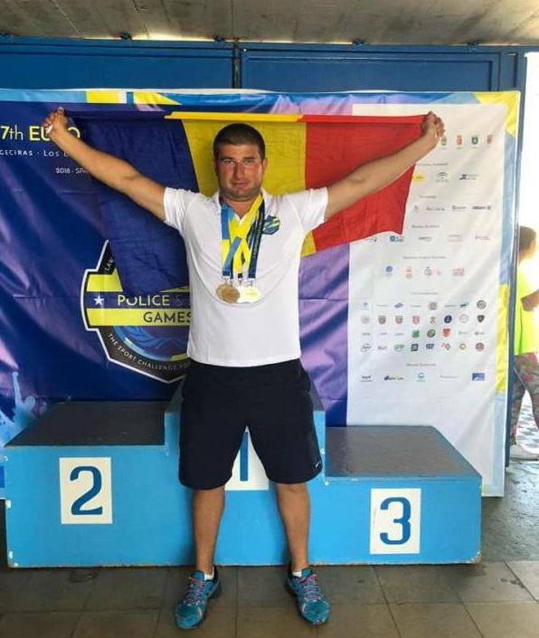 Gibraltar: Subofiţer al ISU Neamţ, 4 medalii de aur la Campionatul European al Poliţiştilor şi Pompierilor
