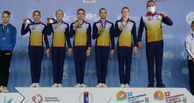 Gimnastică artistică: România, medaliată cu aur pe echipe şi la individual compus la Europenele de junioare