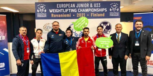 Haltere: România a încheiat Campionatele Europene U23 din Finlanda cu 3 medalii de aur, 3 de argint şi 3 de bronz