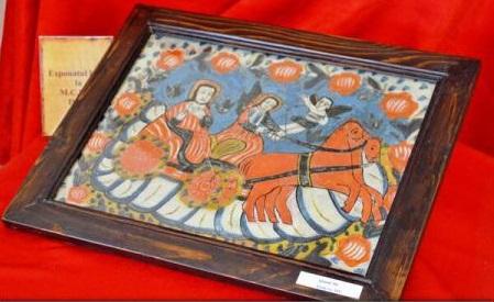 Hunedoara: O icoană veche pe sticlă a Sfântului Ilie, prezentată în premieră publicului