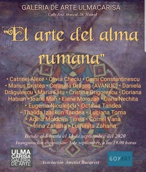 INVITAȚIE LA EXPOZIȚIE - El arte del alma rumana (Arta sufletului românesc), la Galeria Ulmacarisa în Madrid 2