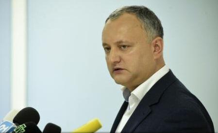 Igor Dodon va cere revocarea ambasadorului Republicii Moldova la București