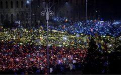 VIDEO: Imagini inedite: Piața Victoriei, în culorile drapelului național