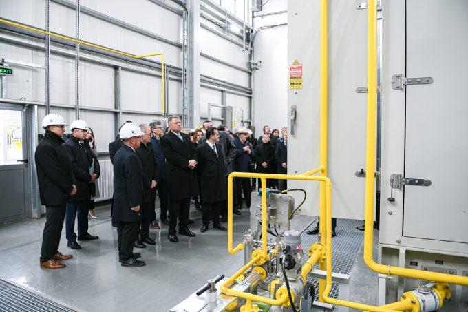 Inaugurarea staţiei de comprimare gaze naturale Podişor, din judeţul Giurgiu