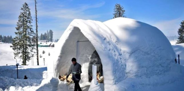 India: Un hotel din Kashmir atrage turiştii cu o cafenea-iglu