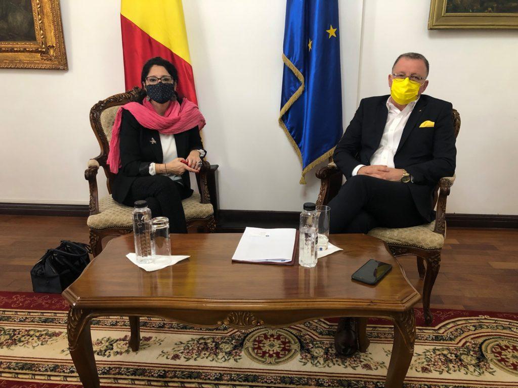 Intâlnire a secretarului de stat Oana Ursache cu ministrul Agriculturii și Dezvoltării Rurale, Adrian Oros