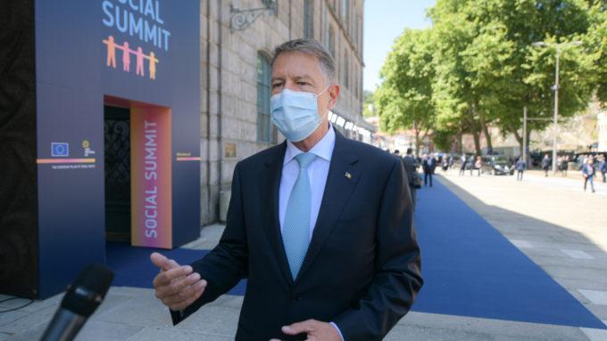 Iohannis, înaintea Summitului de la Porto: Banii pentru reconstrucţie post-pandemie merg şi către pilonul social
