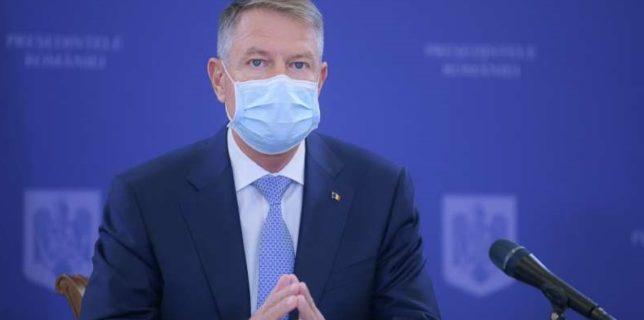 Iohannis: Restricţiile care au intrat în vigoare au un singur scop - protejarea populaţiei şi reducerea presiunii pe sistemul sanitar