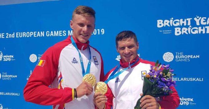 Jocurile Europene 2019: Cătălin Chirilă şi Victor Mihalachi, medaliaţi cu aur la canoe-2, pe 1.000 m