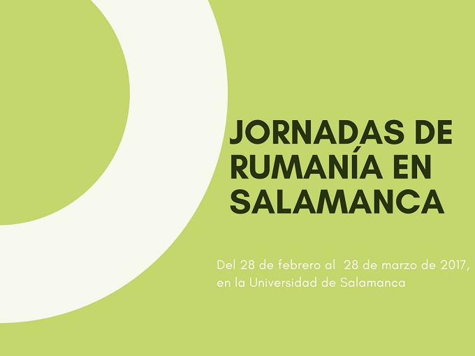 Jornadas de Rumanía, en Salamanca en la sede de la universidad, Palacio Anayita