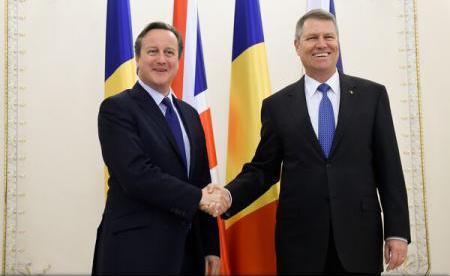 Klaus Iohannis s-a întâlnit cu David Cameron