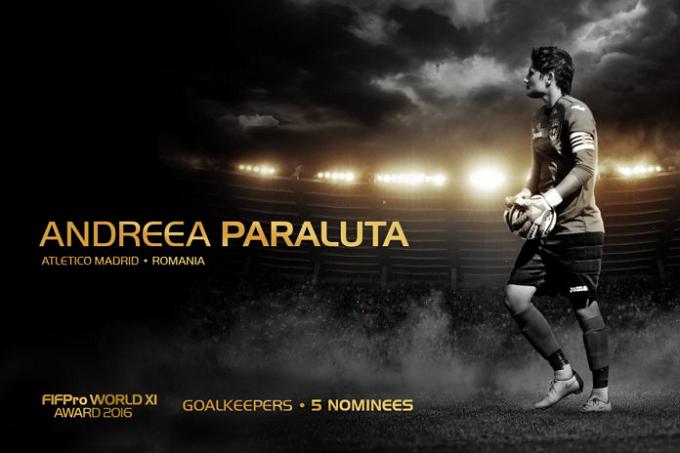 La portera rumana Andreea Paraluta, nominada al Once Mundial Femenino de FIFPro