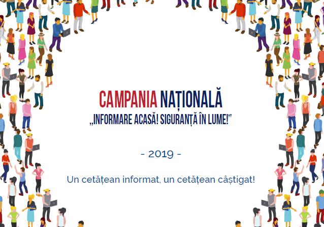 """Lansarea Campaniei Naționale """"Informare acasă! Siguranță în lume!"""" – 2019"""