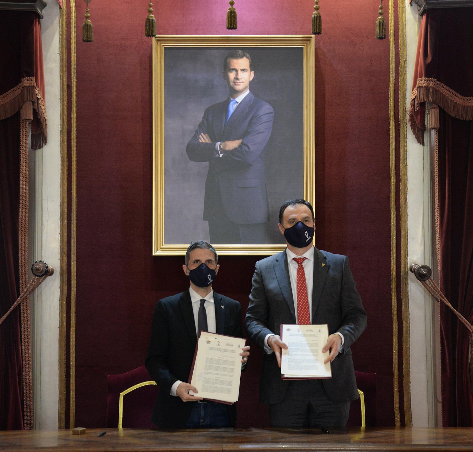 Los alcaldes de Alcalá de Henares y Lebrija firman un convenio para conmemorar el V Centenario de la muerte de Nebrija 1