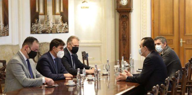 Ludovic Orban - întâlnire cu reprezentanţi ai Airbus Helicopters privind dezvoltarea industriei aeronautice din România