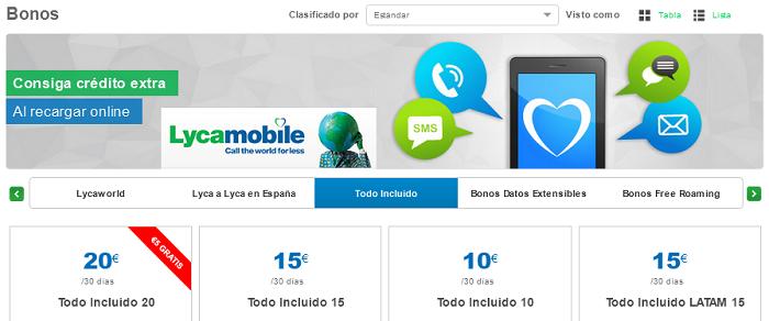 """Lycamobile lanza nuevos bonos """"TODO INCLUIDO"""" para llamar a 52 países desde 10 euros al mes"""