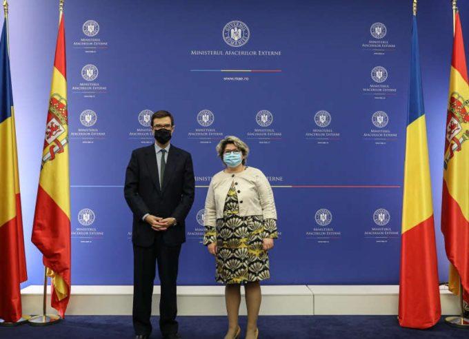 MAE: Consultări Iulia Matei - Juan Gonzalez-Barba pe tema cooperării dintre România şi Regatul Spaniei