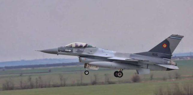 MApN: O aeronavă F-16 Fighting Falcon - adusă în România; aceasta completează Escadrila 53 a Forţelor Aeriene Române