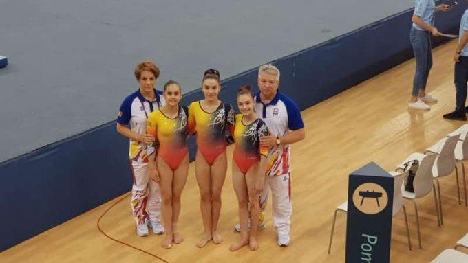 Medalie de argint pentru echipa feminină de gimnastică artistică a României, la Baku