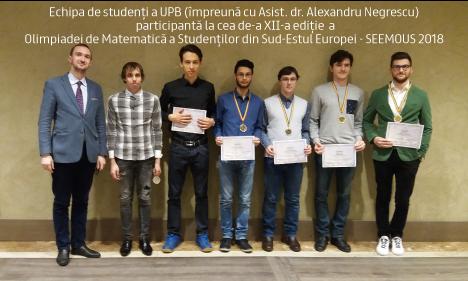 Medalii de Aur şi Argint pentru studenții Universității Politehnica din Bucureşti