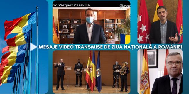 Mesaje Video transmise de primari și alte autorități spaniole, de Ziua Națională a României