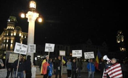 Mii de persoane au ieșit în stradă în orașe din țară împotriva proiectului de modificare a Legilor Justiției