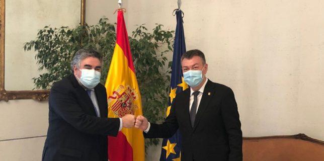 Ministrul Culturii, Bogdan Gheorghiu, s-a întâlnit cu ministrul spaniol al Culturii, José Manuel Rodríguez Uribes