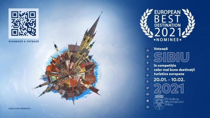 Municipiul Sibiu, nominalizat pe lista celor mai bune 20 de destinaţii turistice europene