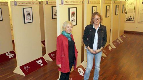 """Museo Valle Inclán (Galicia): Néstor Dámaso del Pino ha tenido una exposicion con el tema """"Cariteraturas"""""""