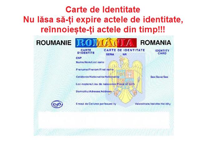 Nu lăsa să-ți expire actele de identitate, reînnoiește-ți actele din timp: VEZI Documente Necesare