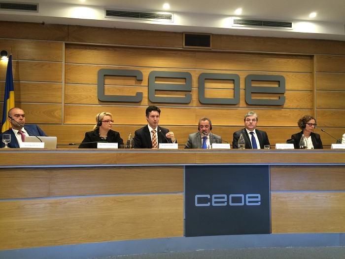 """Număr ridicat de firme spaniole la forumul """"Oportunități de Investiții în România"""" la Madrid"""