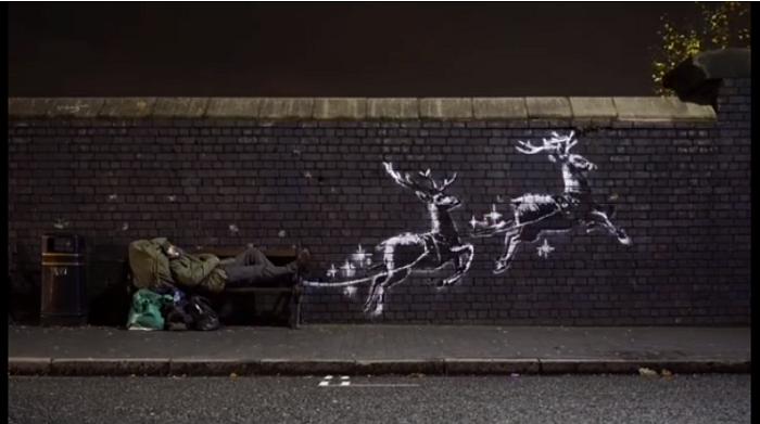 O nouă pictură murală realizată de Banksy a apărut în oraşul britanic Birmingham