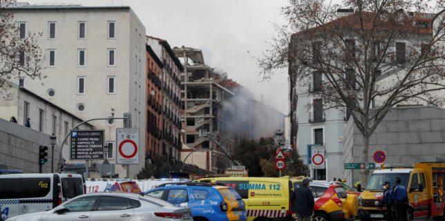 O puternică explozie în centrul Madridului - Cel puţin 2 morţi şi 8 răniţi