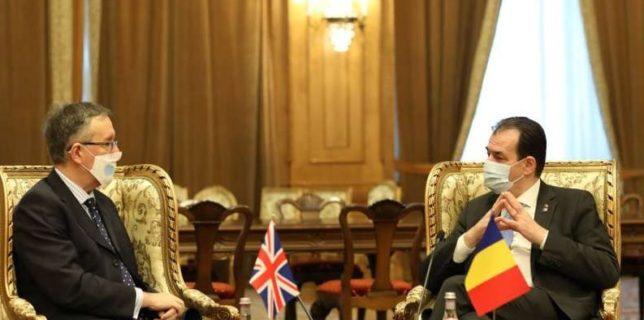 Orban, după întâlnirea cu Andrew Noble: Parteneriatul Strategic dintre România şi Marea Britanie - activ şi de succes