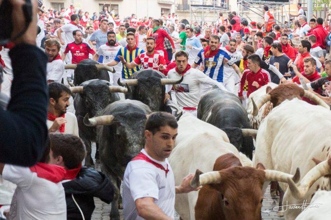 Pamplona - Încă şase persoane rănite în ultima zi a curselor cu tauri